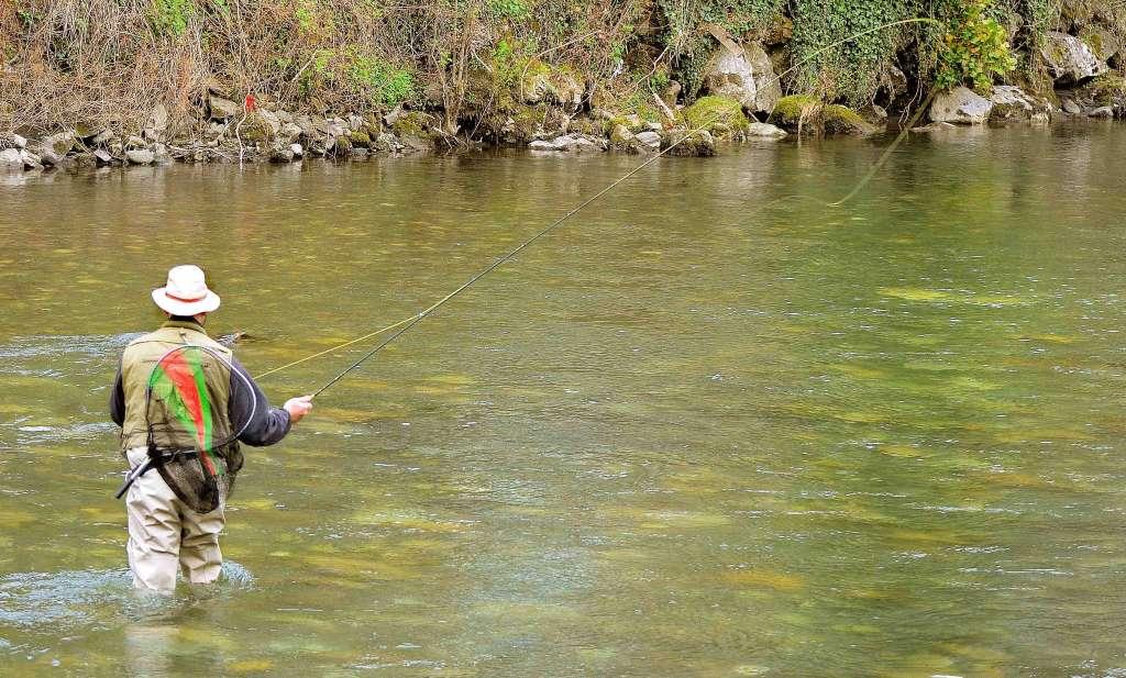 Pêche de la truite